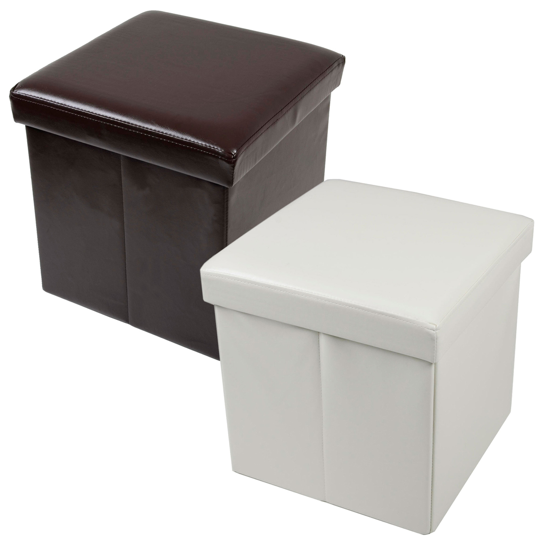Leather Cube Ottoman | Storage Cube Ottoman | Storage Ottomans for Sale