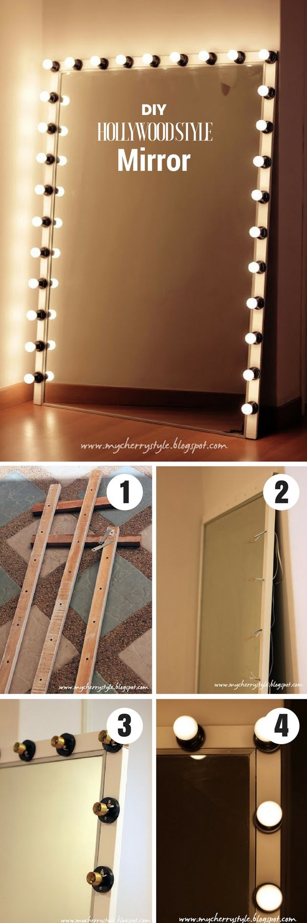 Mirrors hollywood vanity mirror with lights for best - Bedroom vanity mirror with lights ...