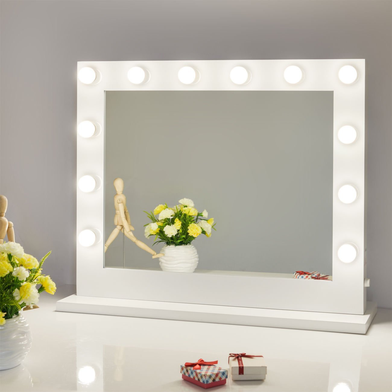 Lighted Makeup Vanity | Hollywood Vanity Mirror with Lights | Broadway Vanity Mirror