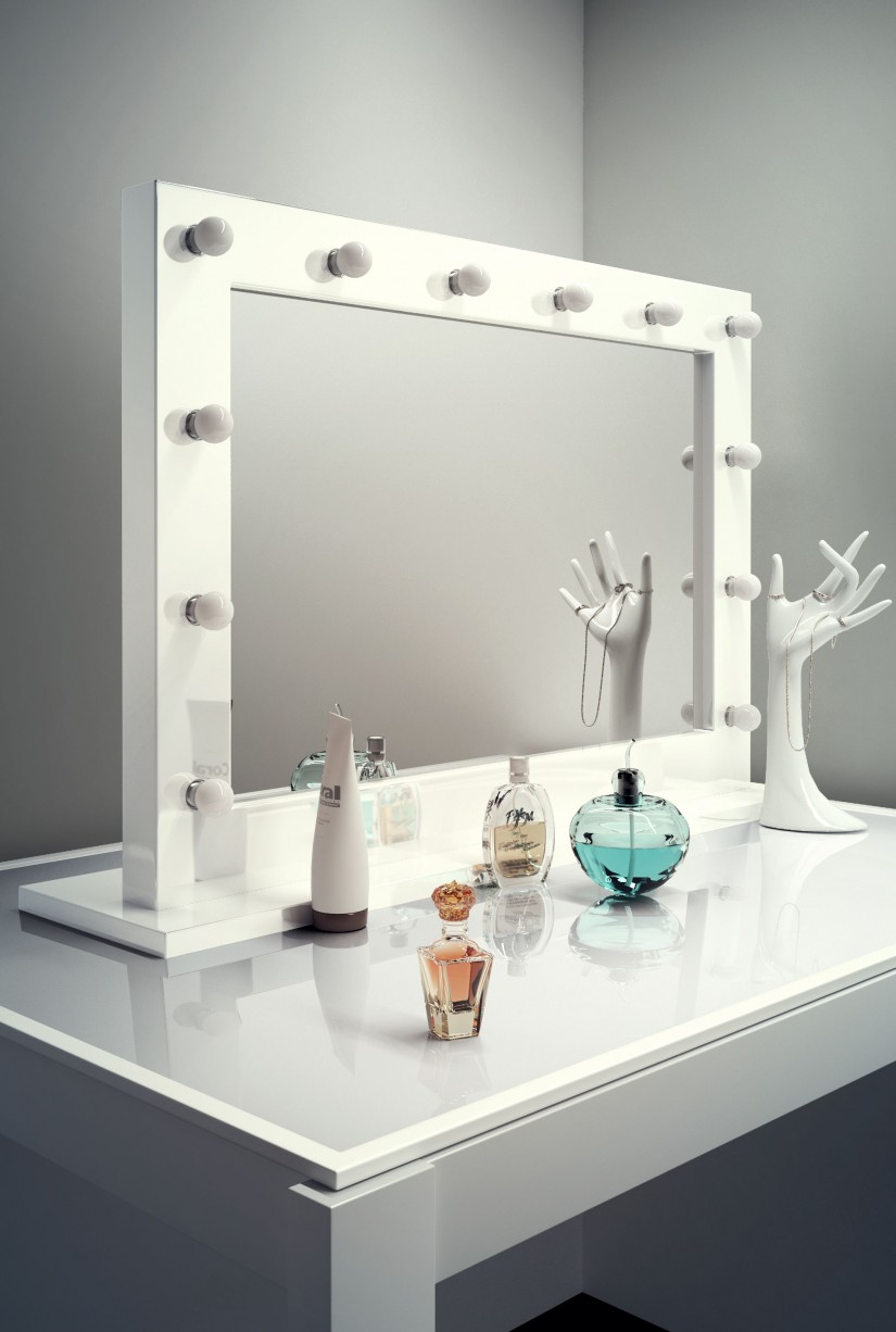 Lighted Makeup Vanity | Large Makeup Mirror With Lights | Hollywood Vanity Mirror With Lights