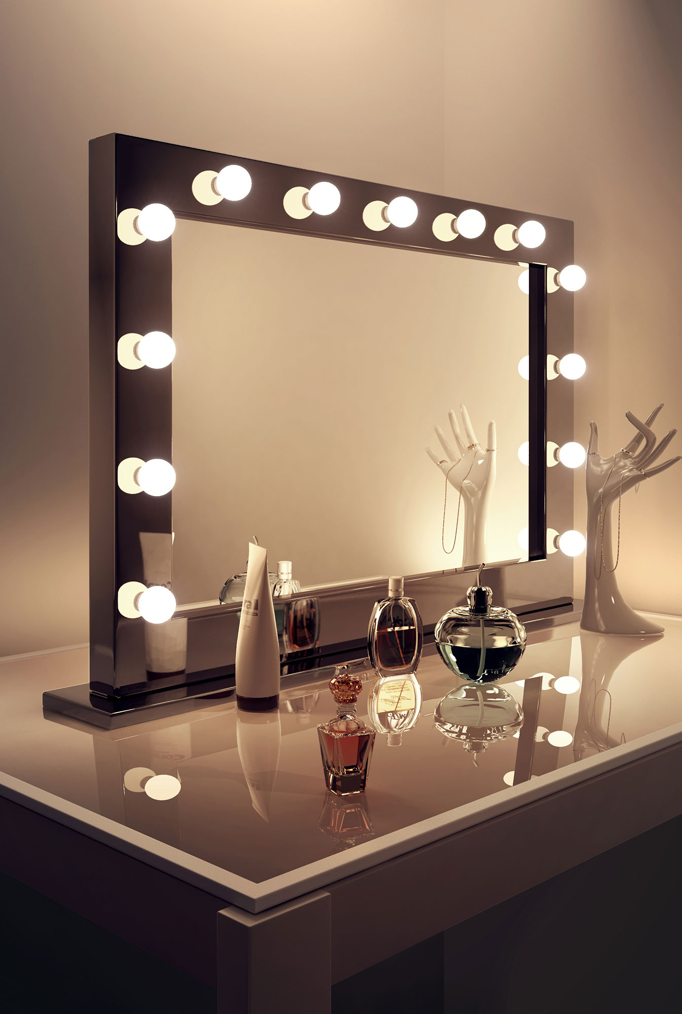 lights mirrors mirror bathroom inside vanity lighted with brilliant