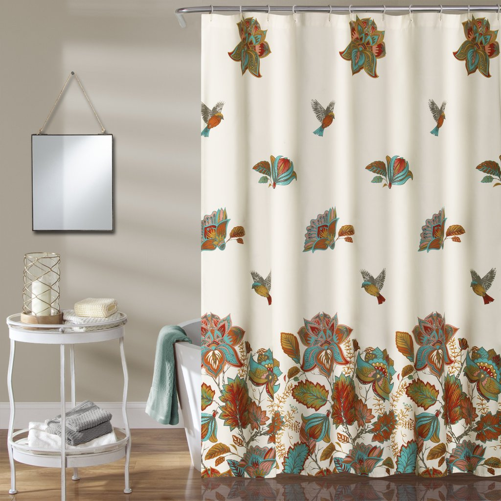 bathroom inspiration pattern tfile fabric marvelous image uncategorized floral window for curtains frame bird and shower theme ideas