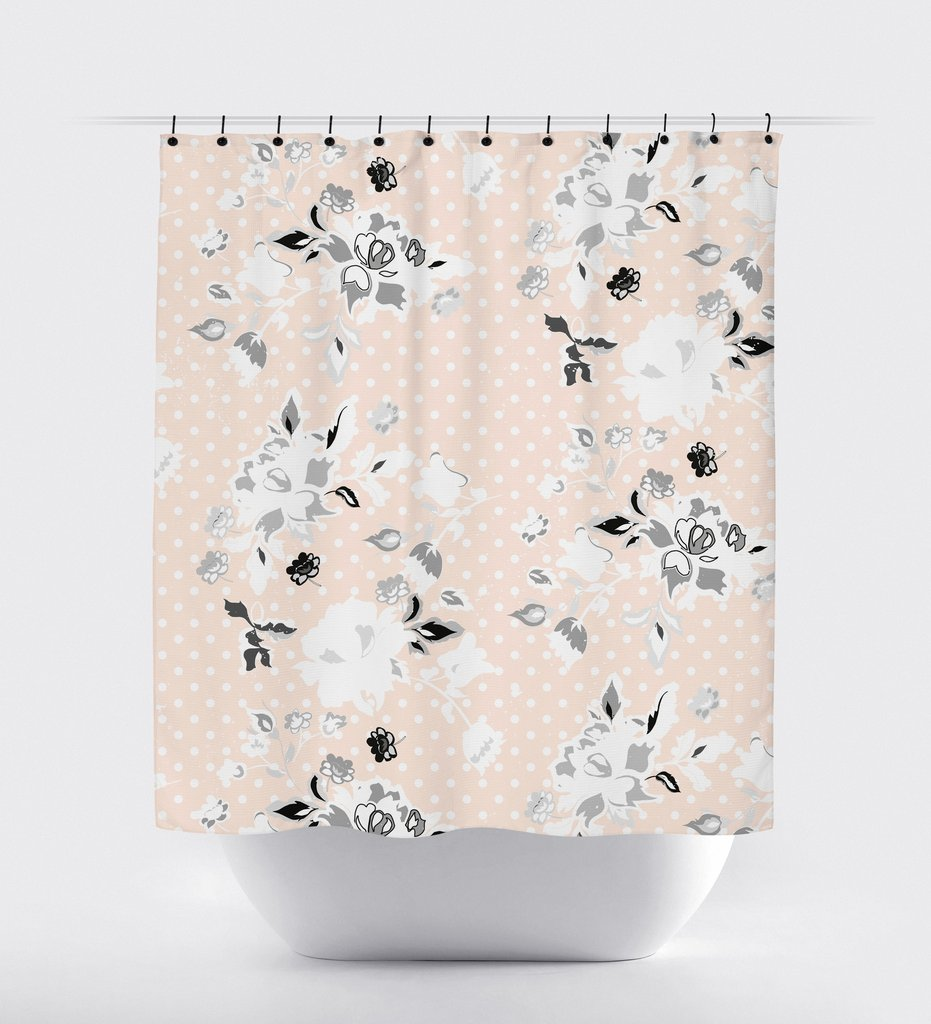 Beautiful Bathroom Decor Ideas with Floral Shower Curtain: Mens Shower Curtains | Floral Shower Curtain | Neutral Shower Curtains