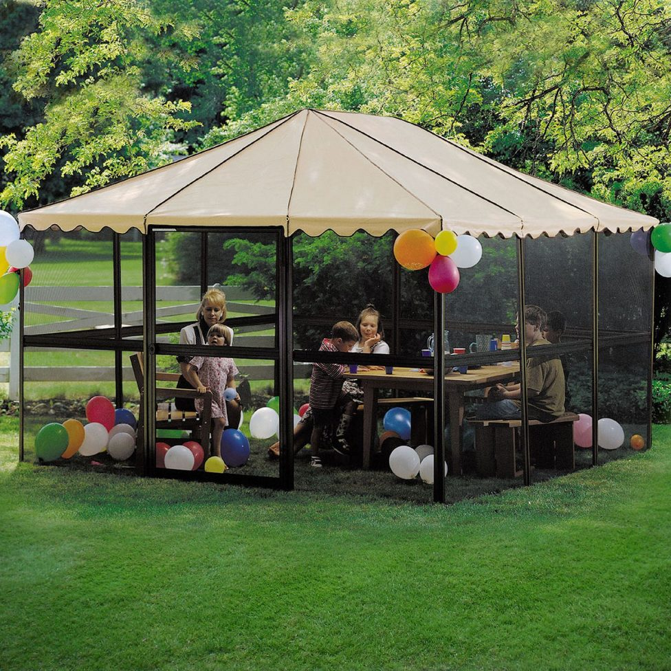 Metal Garden Gazebos | Portable Screen Gazebo | Screened Gazebo