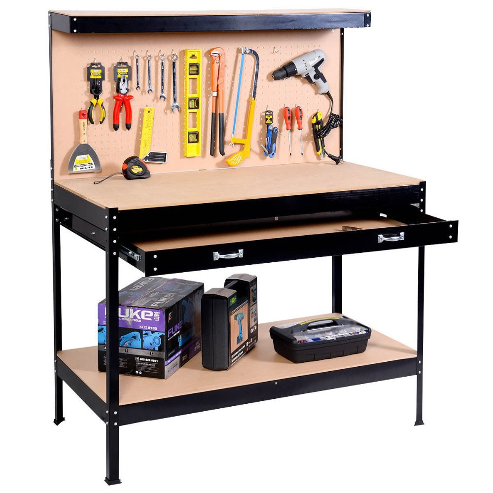 Metal Workbench With Wheels | Metal Workbench | Husky Workbenches