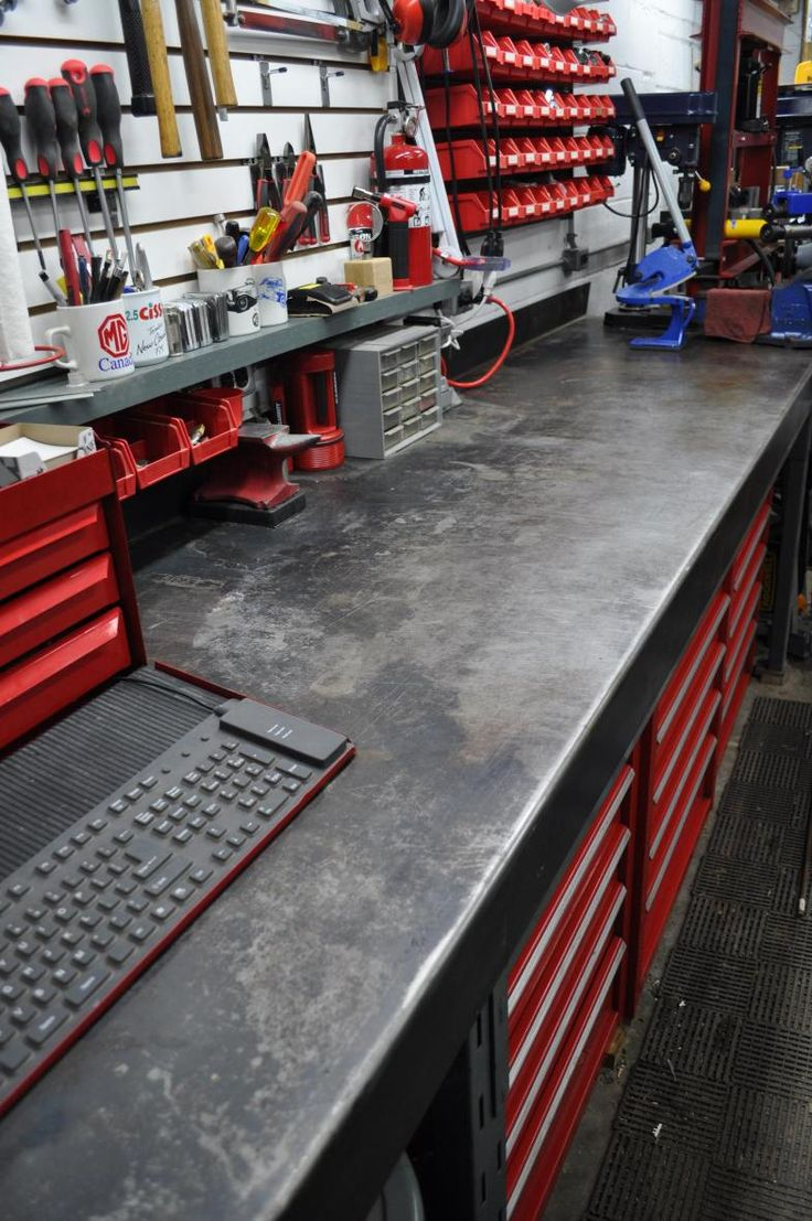 Metal Workbench | Workbenches for Garage | Industrial Steel Workbench