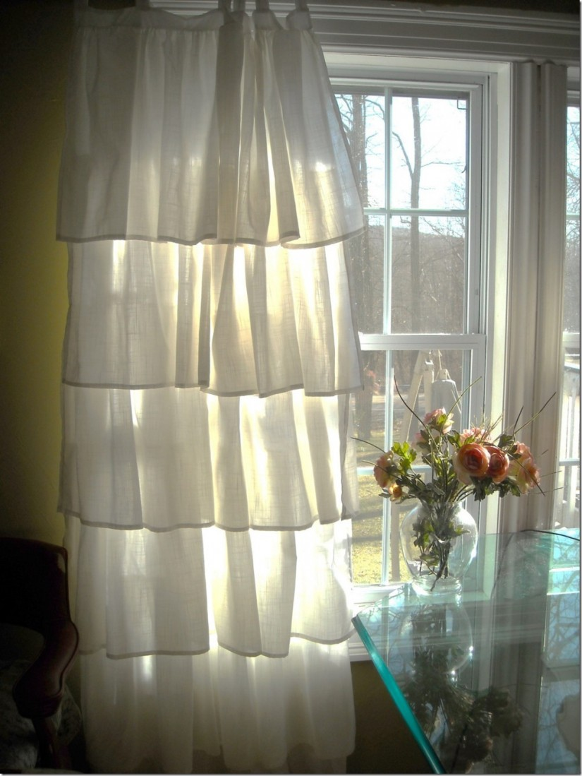 Mint Green Window Curtains | Blackout Shades Nursery | Ruffle Blackout Curtains