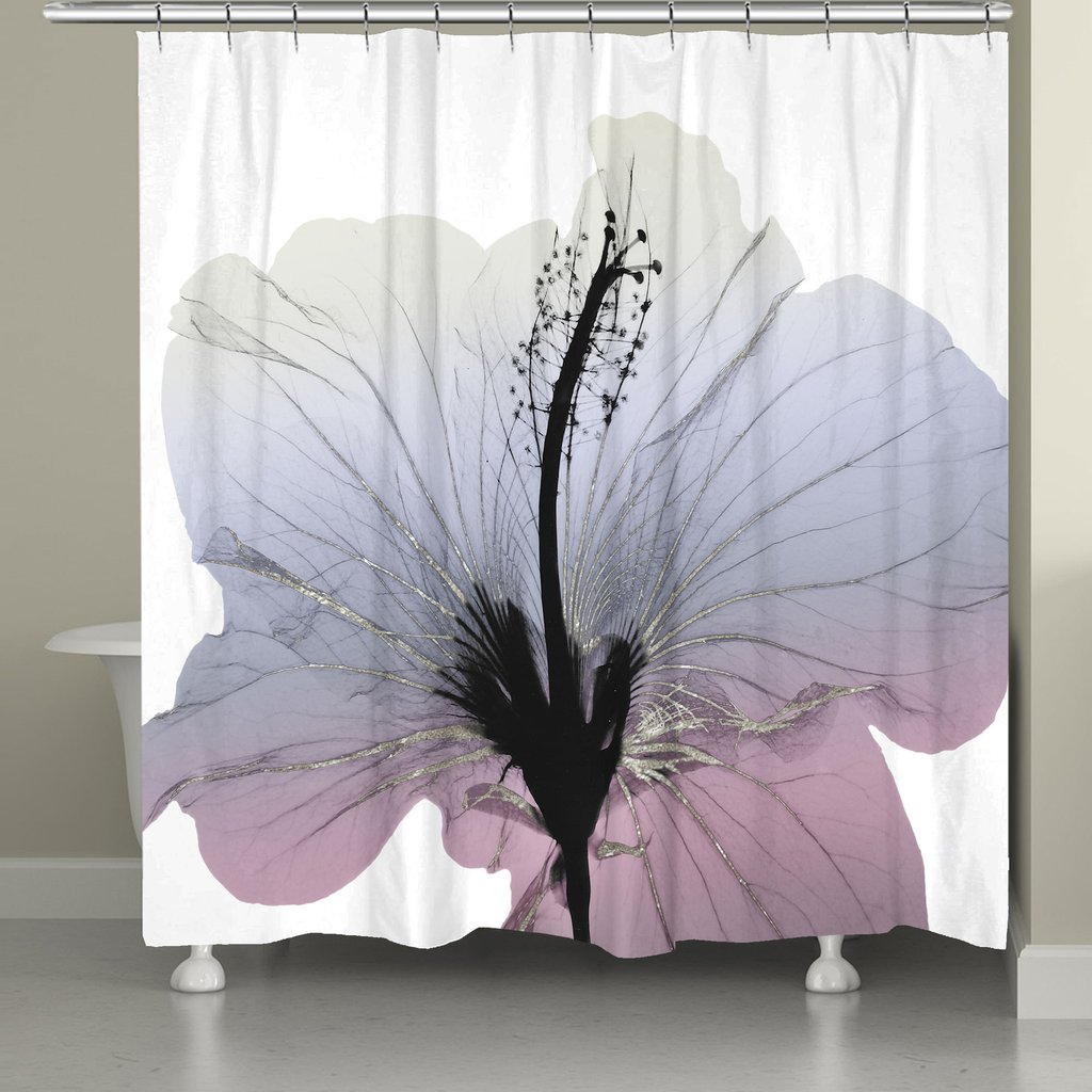Mint Shower Curtain | Modern Shower Curtains | Floral Shower Curtain