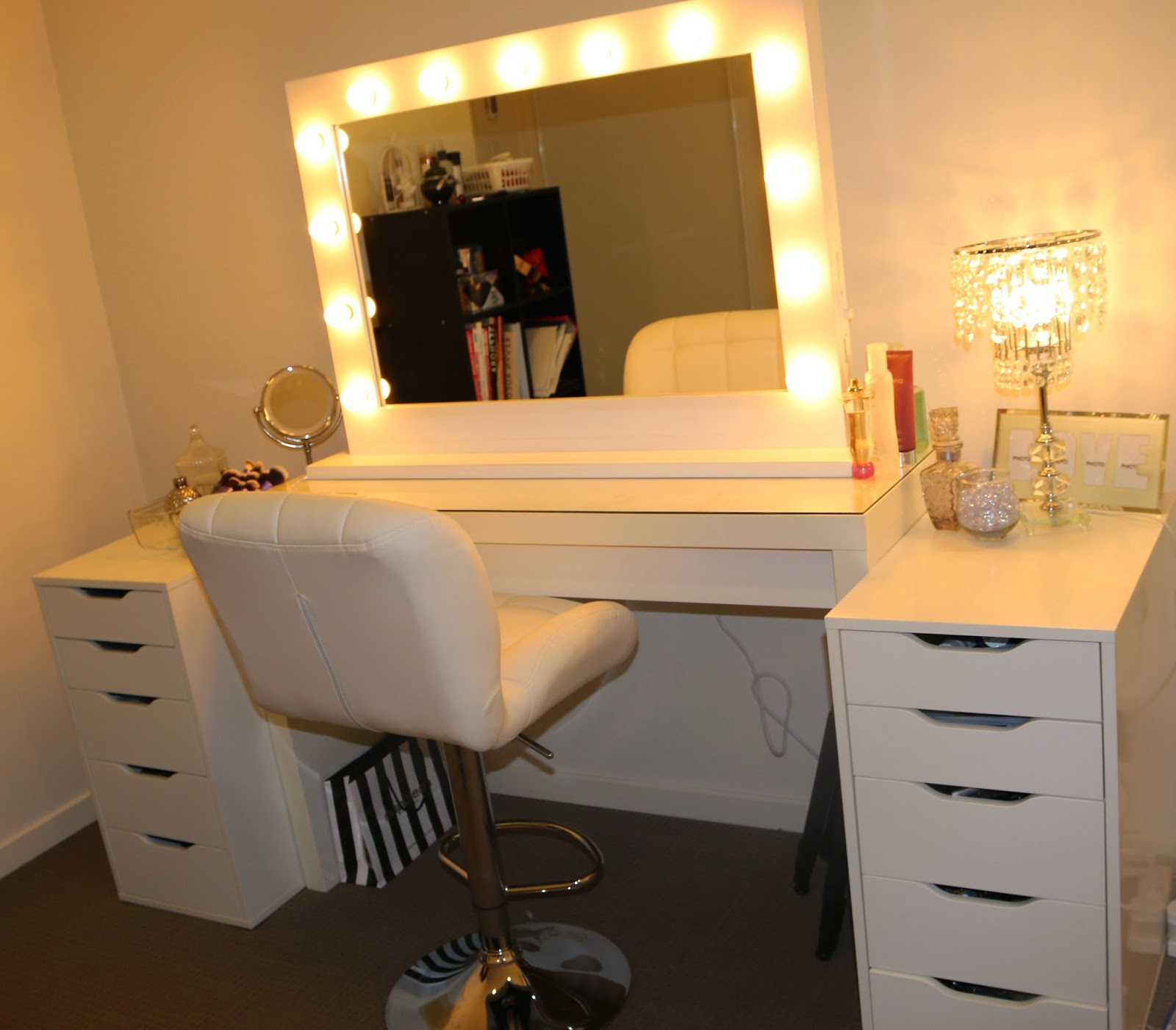 Mirrors: Led Hollywood Mirror | Hollywood Vanity Mirror With Lights ...