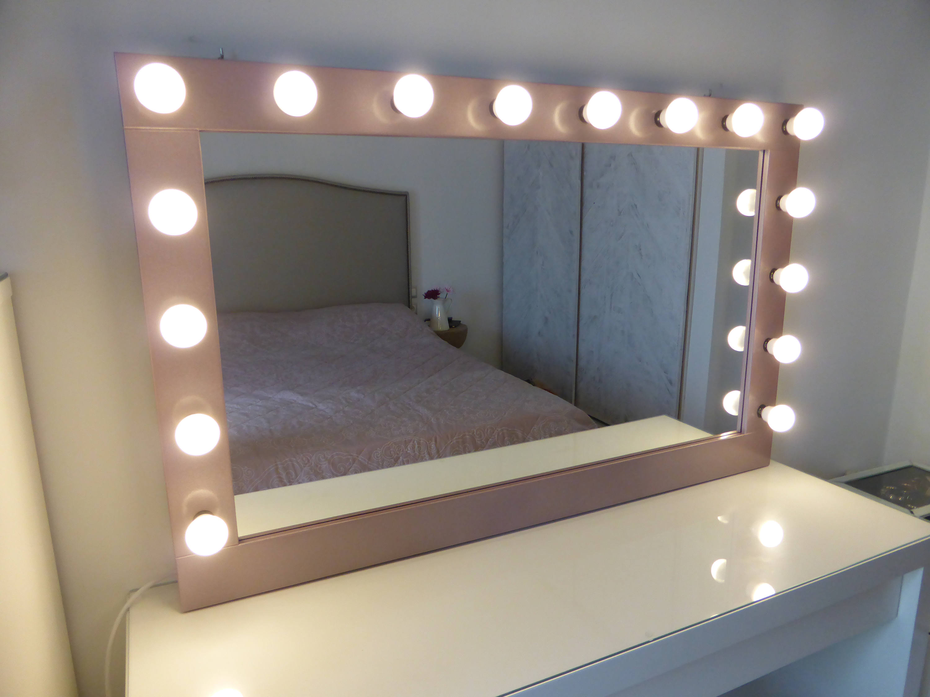 Mirror Lighted Vanity | Make Up Mirror Lights | Hollywood Vanity Mirror with Lights