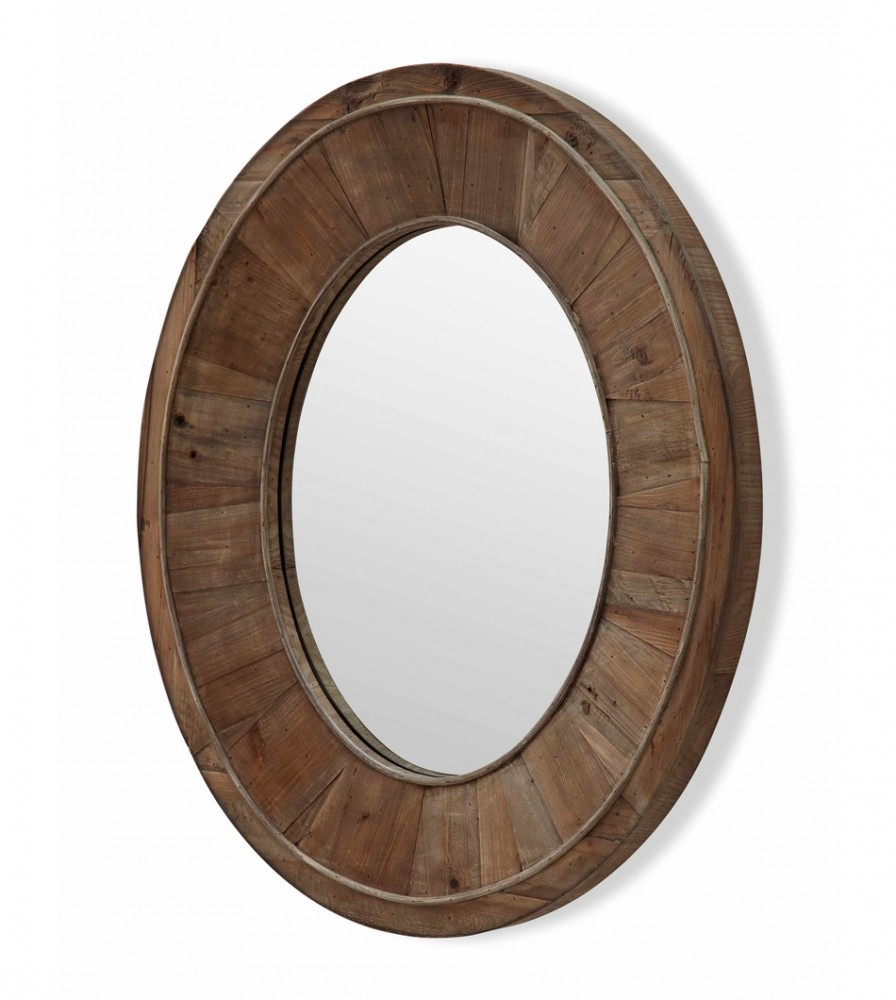 Oak Framed Wall Mirror | Reclaimed Wood Mirror | Kirklands Bathroom Mirrors