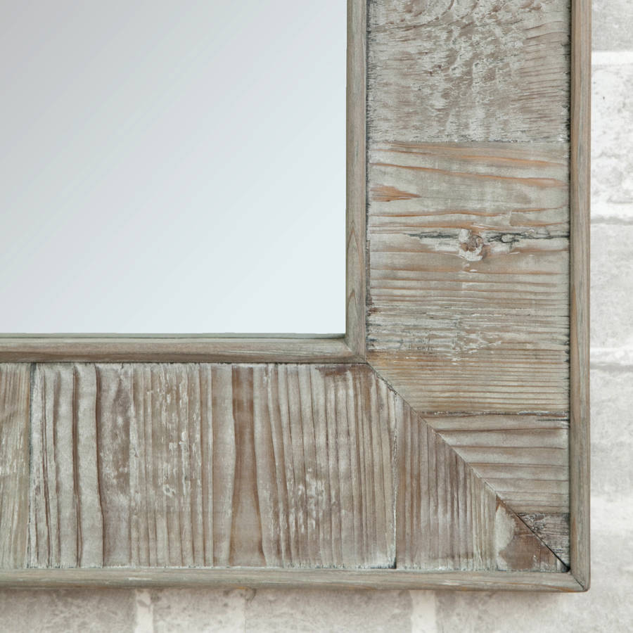 Oak Framed Wall Mirrors | Reclaimed Wood Mirror Frame | Reclaimed Wood Mirror