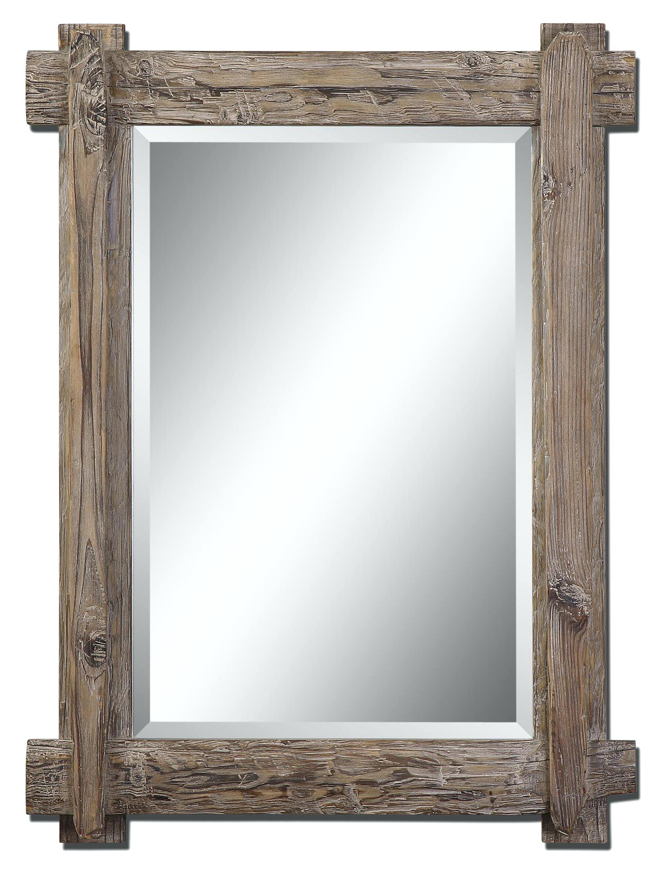 Ornate Wall Mirror | Reclaimed Wood Mirror | Beech Wood Framed Mirrors