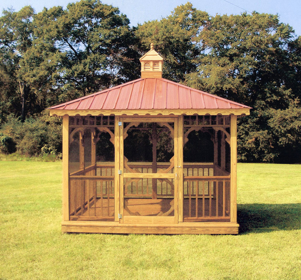 Outdoor Screen House Gazebos | Round Garden Gazebo | Screened Gazebo