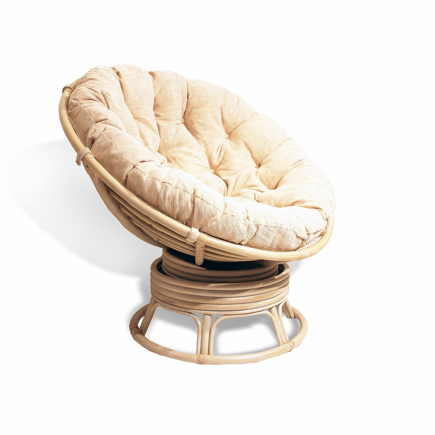 Outdoor Wicker Swivel Rocker | Rattan Swivel Rocker | Cane Swivel Chair
