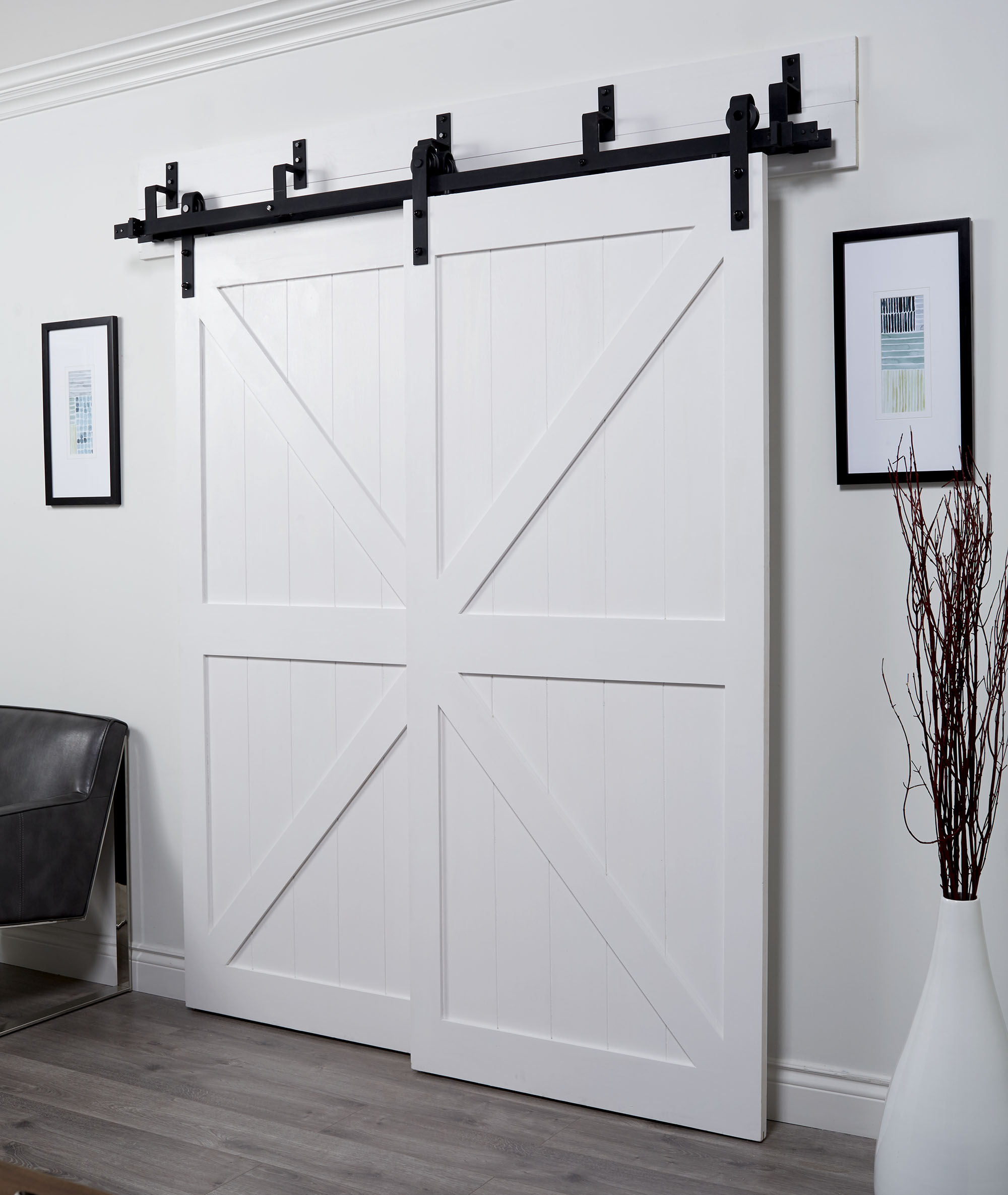 Overlapping Barn Doors | Bypass Barn Door Hardware Kit | Bypass Barn Doors