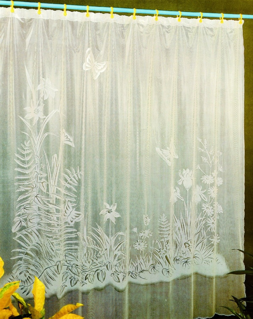 Pale Yellow Shower Curtain | Flowers Shower Curtain | Floral Shower Curtain