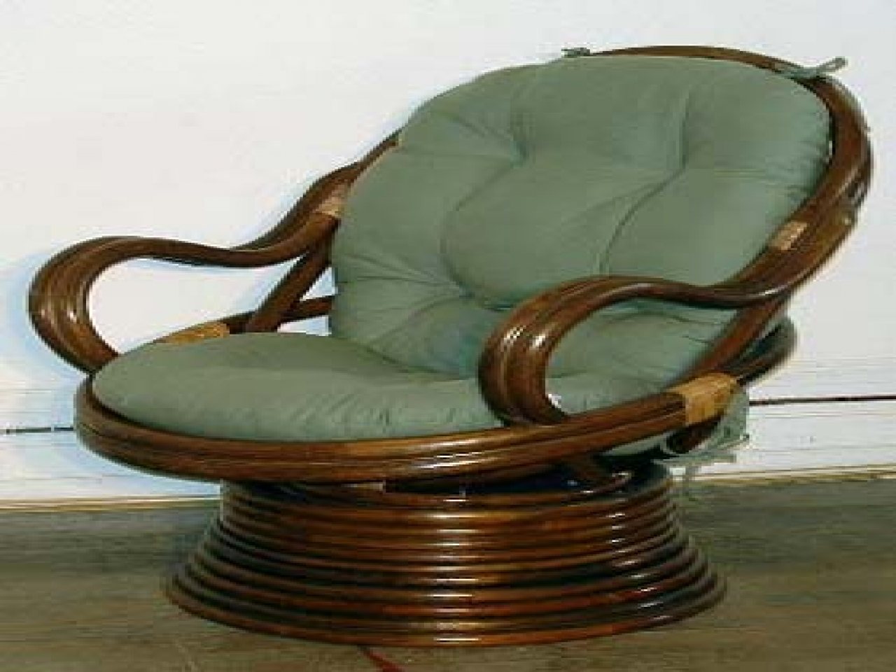 Papasan Rocker Chair | Rattan Swivel Rocker Replacement Cushion | Rattan Swivel Rocker