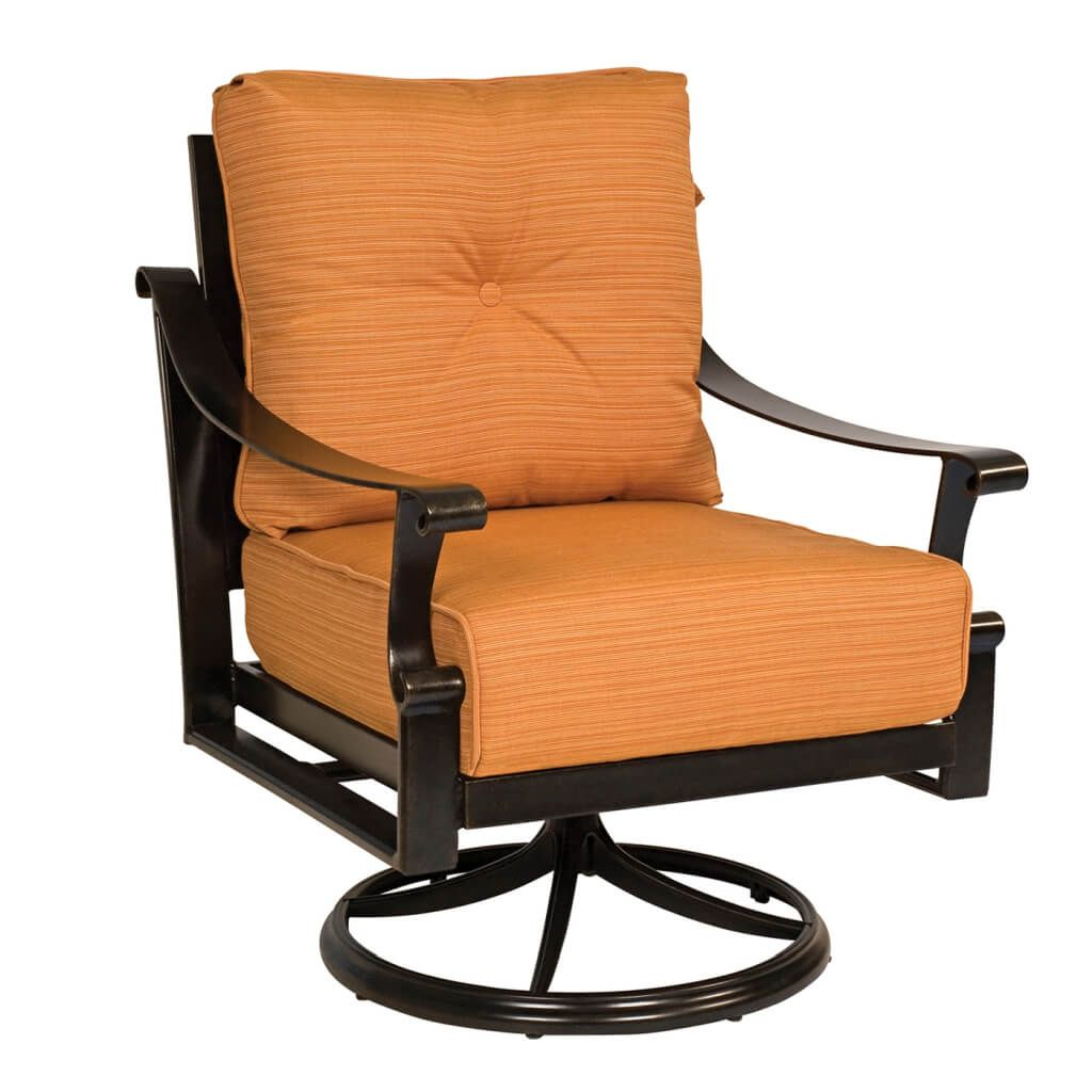 Papasan Rocker | Swivel Wicker Chairs | Rattan Swivel Rocker