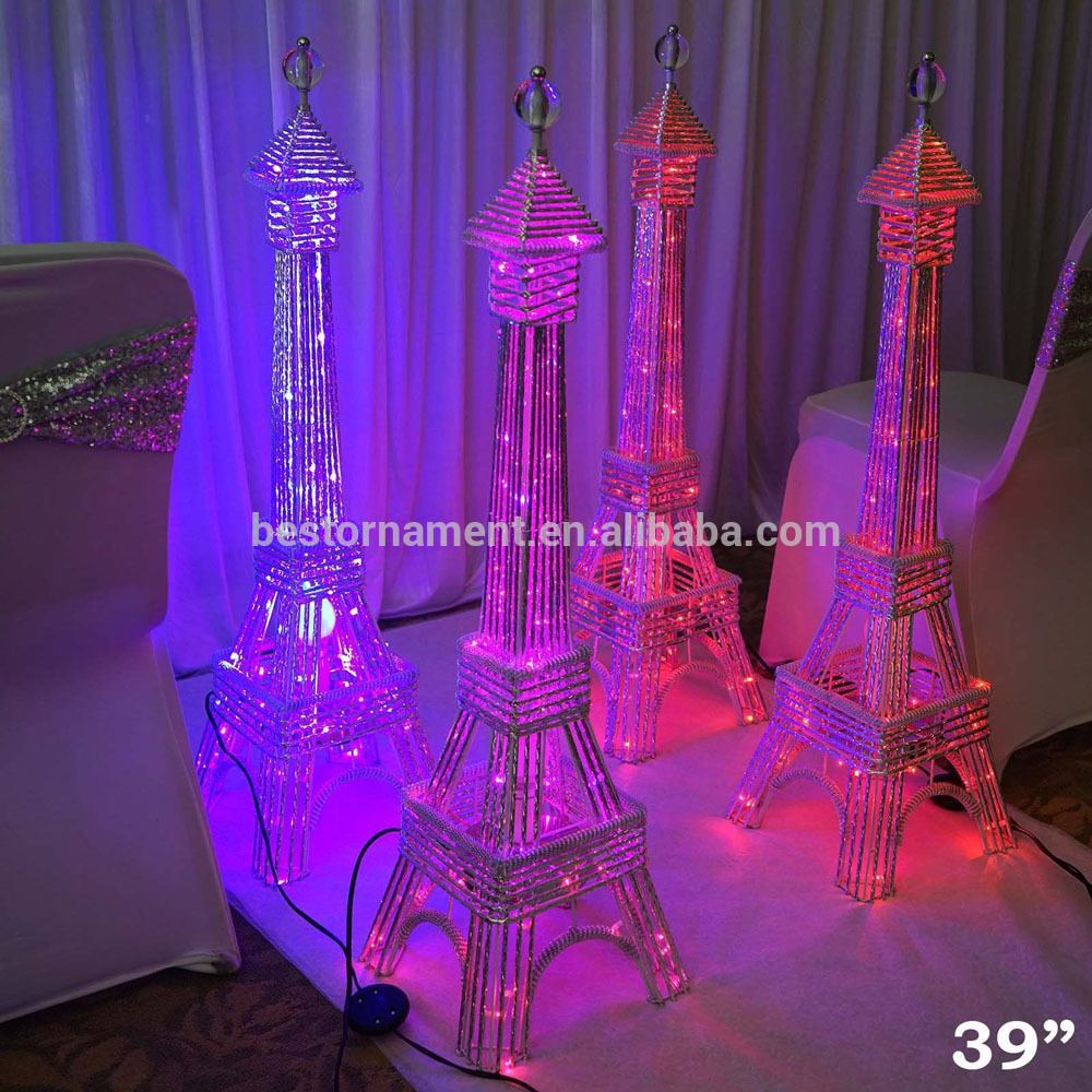 Paris Theme for Quinceanera | Eiffel Tower Figurine | Eiffel Tower Centerpieces