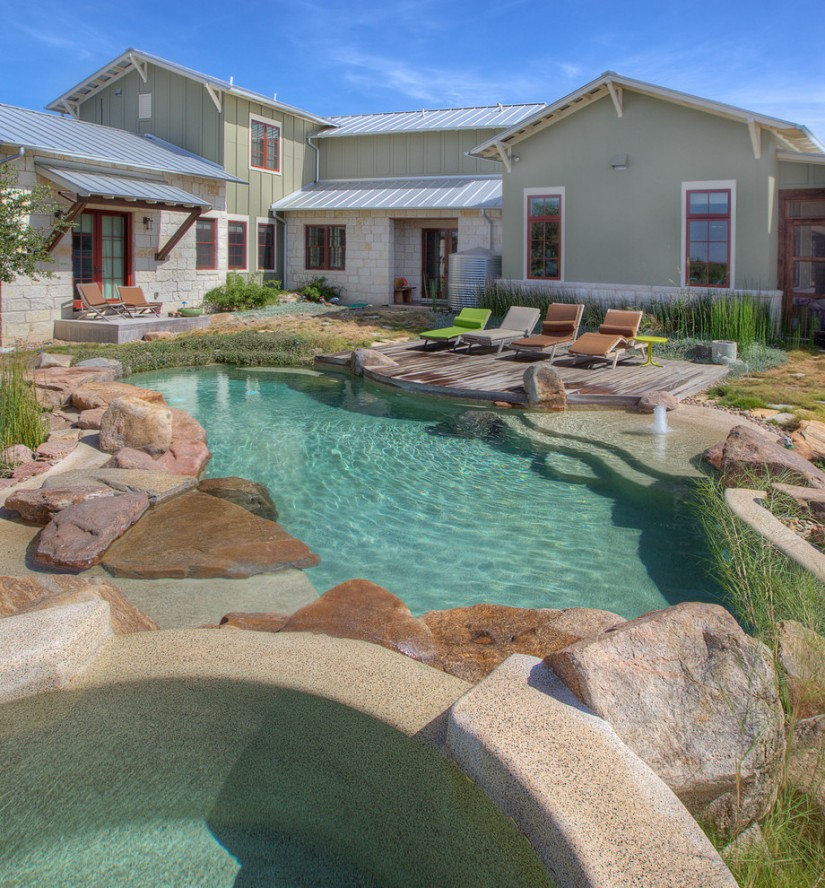 Partial Inground Above Ground Pools | Semi Inground Pool Ideas | Above Ground Pools Half In Ground
