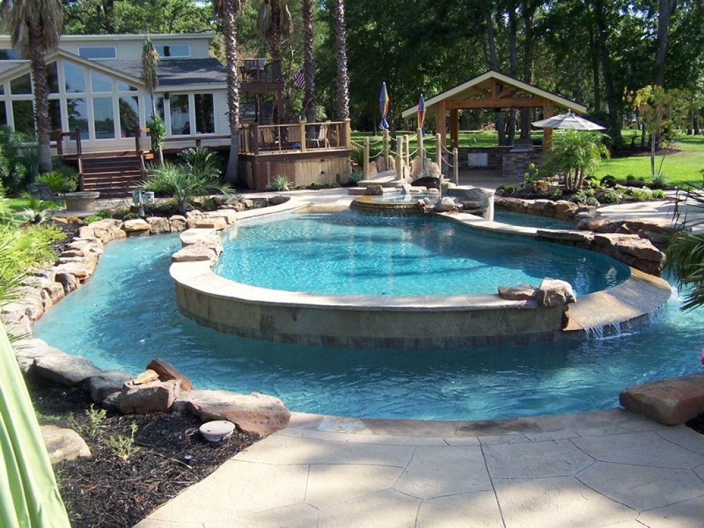 Partial Inground Above Ground Pools | Semi Inground Pool Ideas | Inground Pool