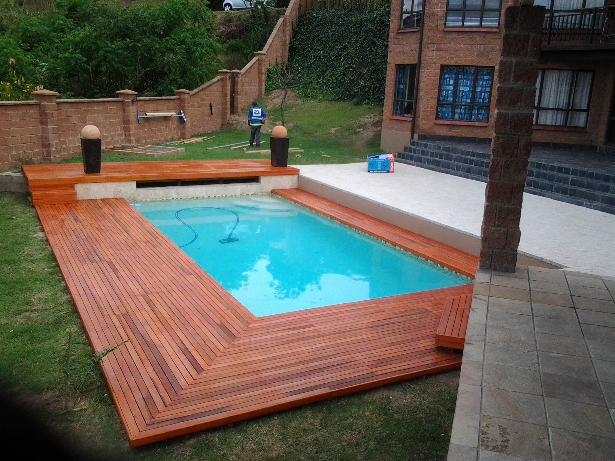 Partially Above Ground Pool | Radiant Pools Price List | Semi Inground Pool Ideas