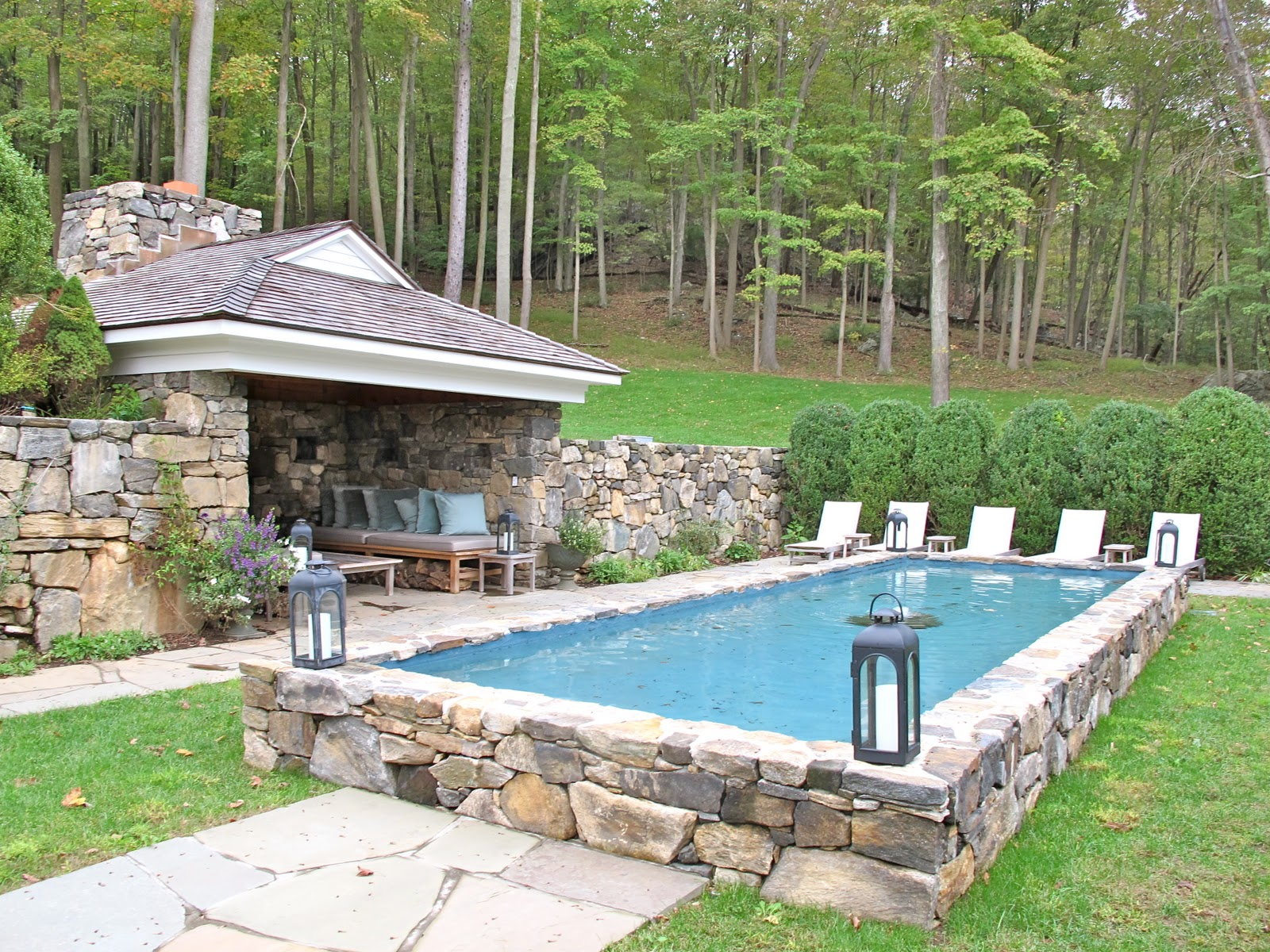 Partially Inground Pool | Partial Inground Pools | Semi Inground Pool Ideas