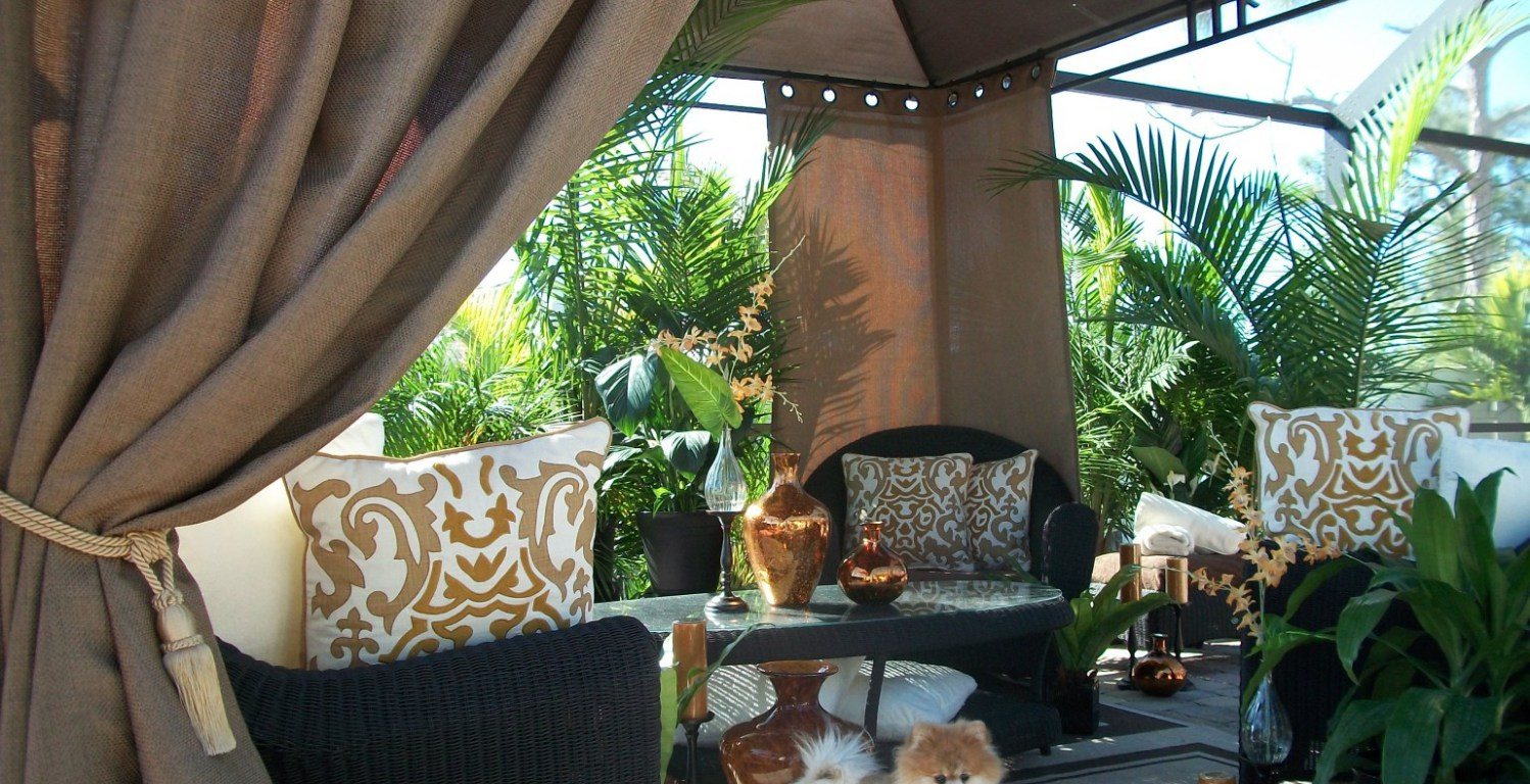 Patio Furniture with Sunbrella Cushions | Sunbrella Curtains | Gazebo Curtain Panels