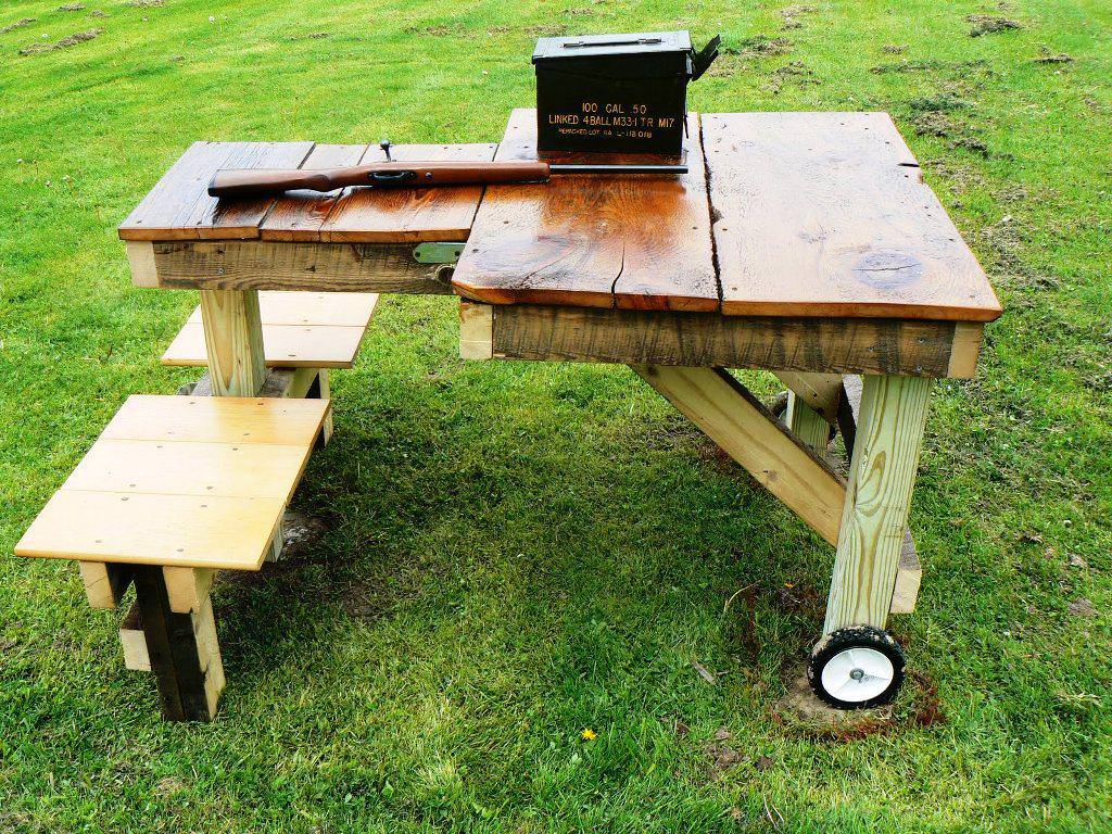 Portable Shooting Bench Plans | How to Build A Shooting Bench | How to Build A Gun Rest