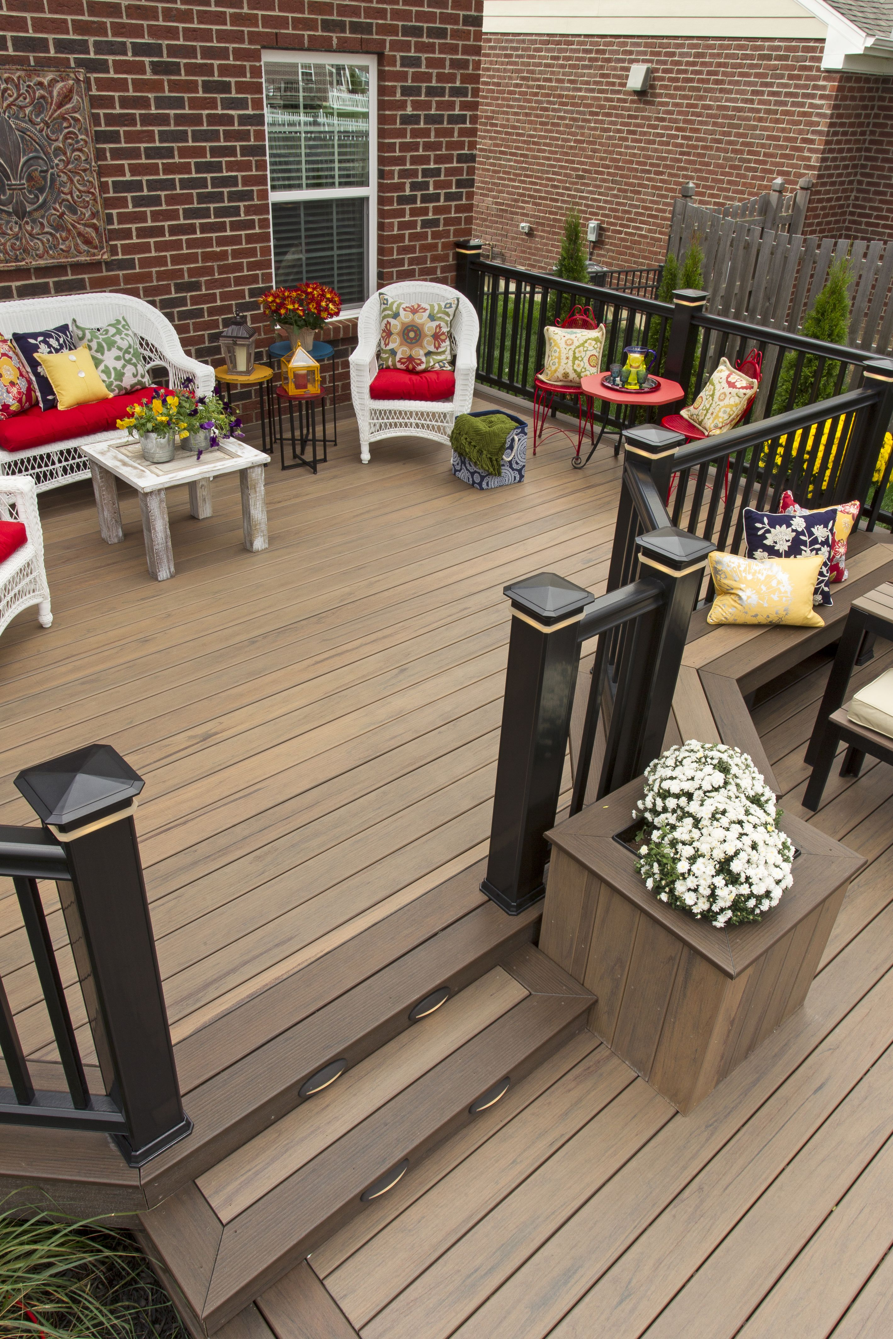 Decks awesome outdoor home design with tigerwood decking for Exterior wood decking materials