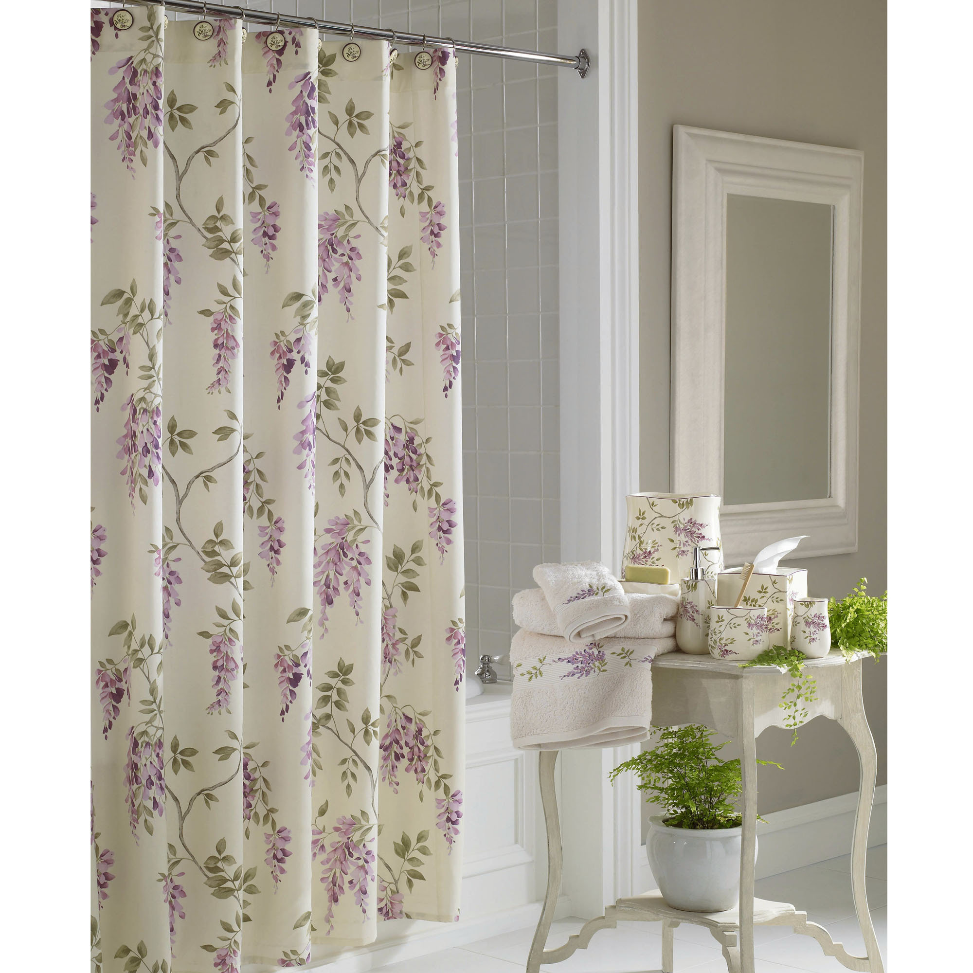 Print Shower Curtain | Tribal Shower Curtain | Floral Shower Curtain