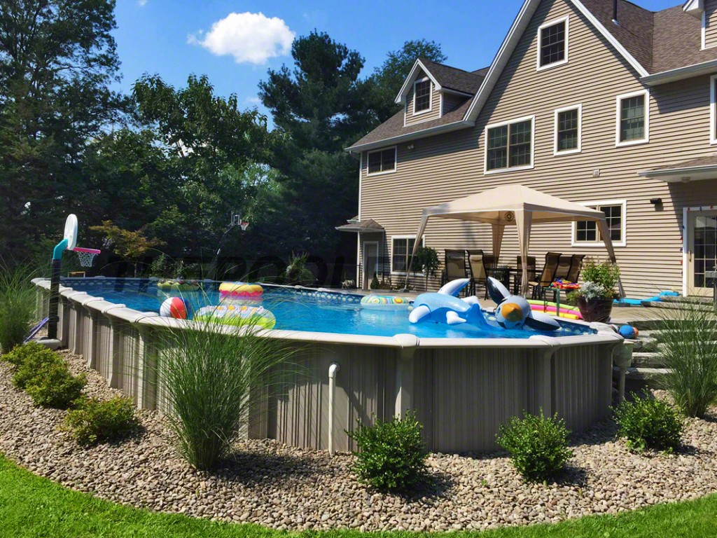 Radiant Pool Kits | Semi Inground Pool Ideas | Above Ground Inground Pool
