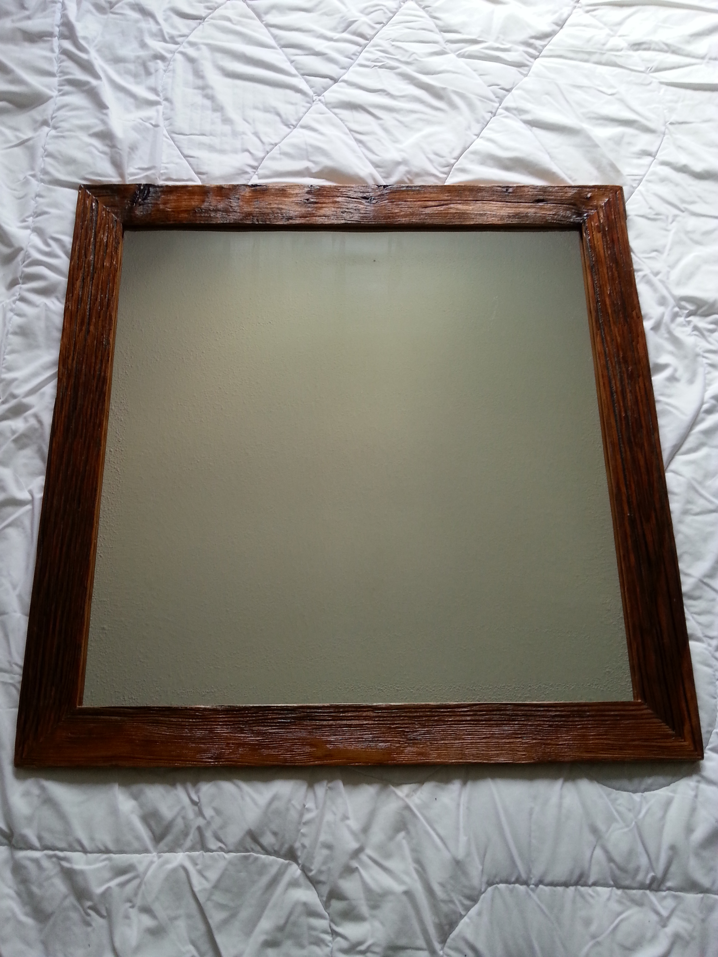 Rattan Framed Mirrors | Reclaimed Wood Mirror | Decorative Vanity Mirror