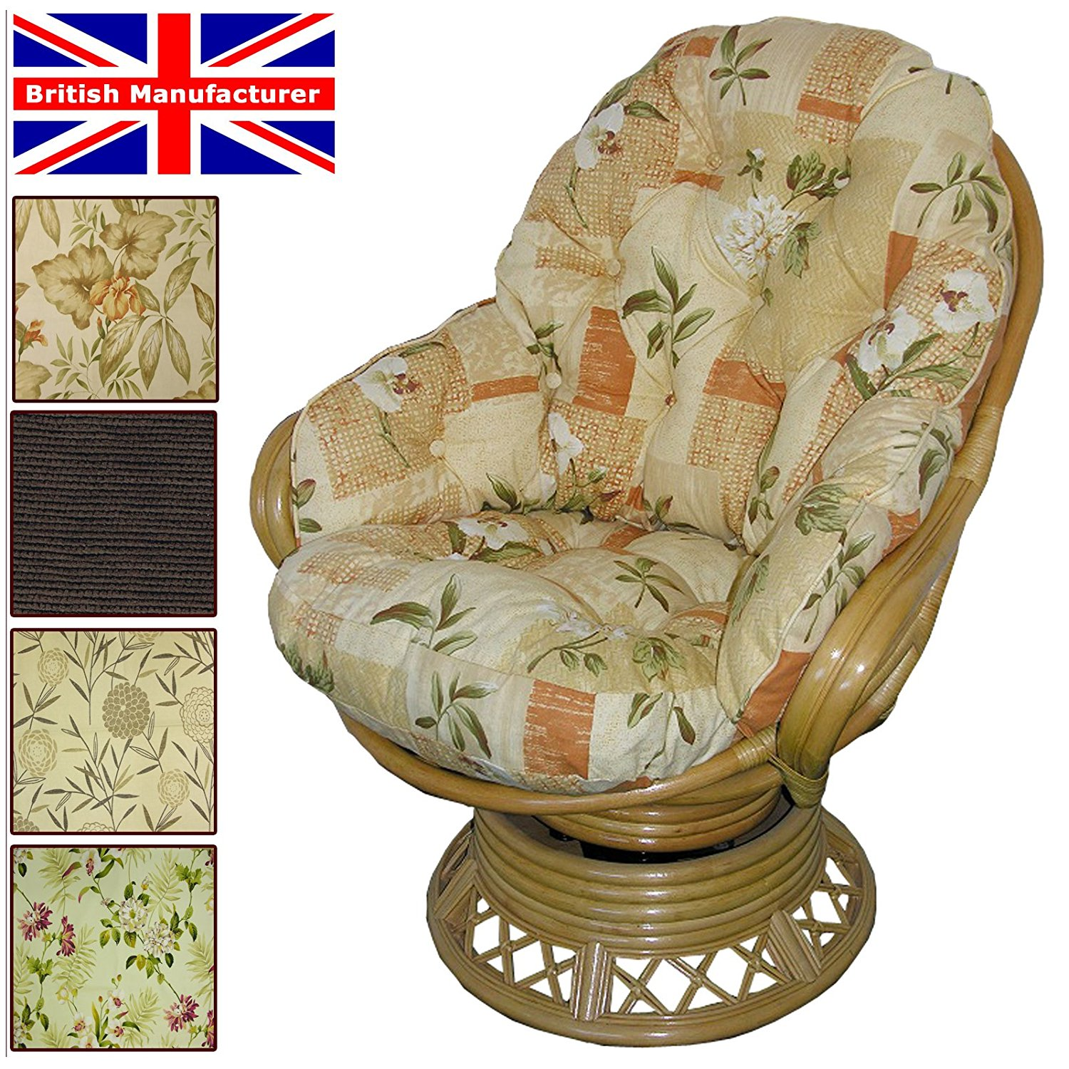 Rattan Rocking Chairs | Indoor Glider Chair | Rattan Swivel Rocker