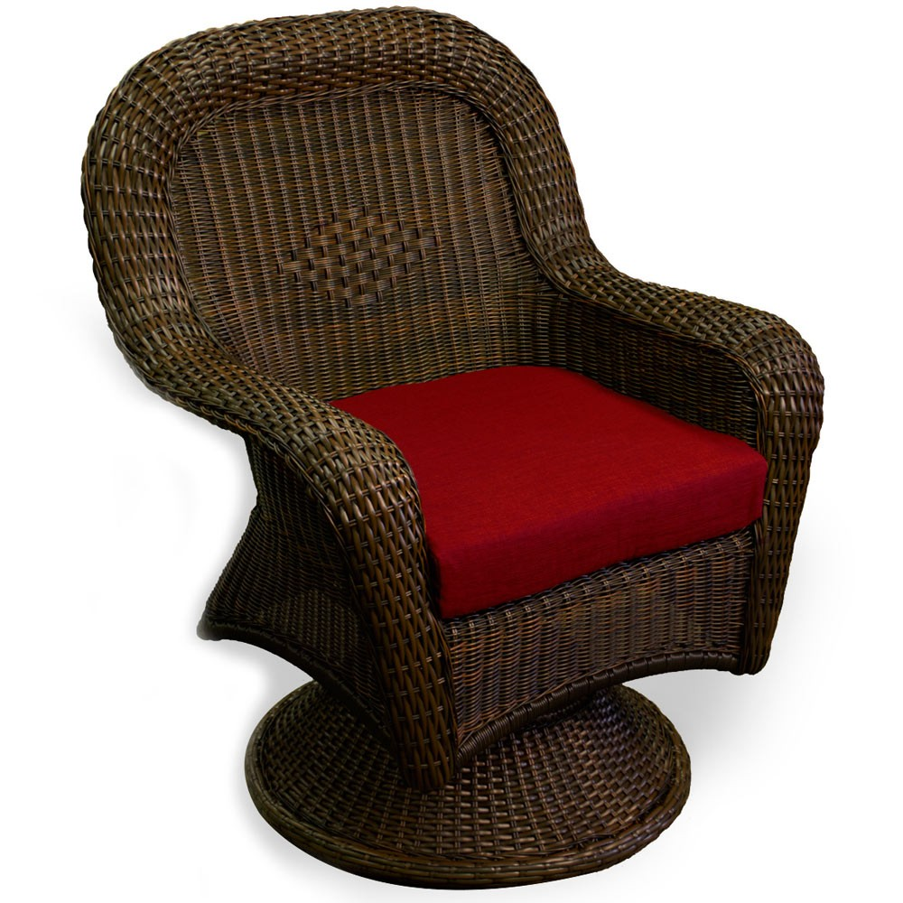 Rattan Swivel Chair Cushion | Cushion for Rattan Swivel Rocker | Rattan Swivel Rocker