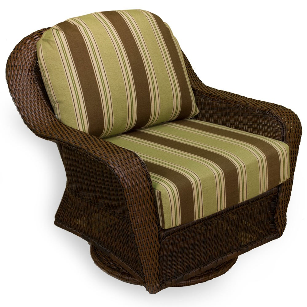 Rattan Swivel Rocker | Bamboo Swivel Rocker | Wicker Swivel Rocker Cushions