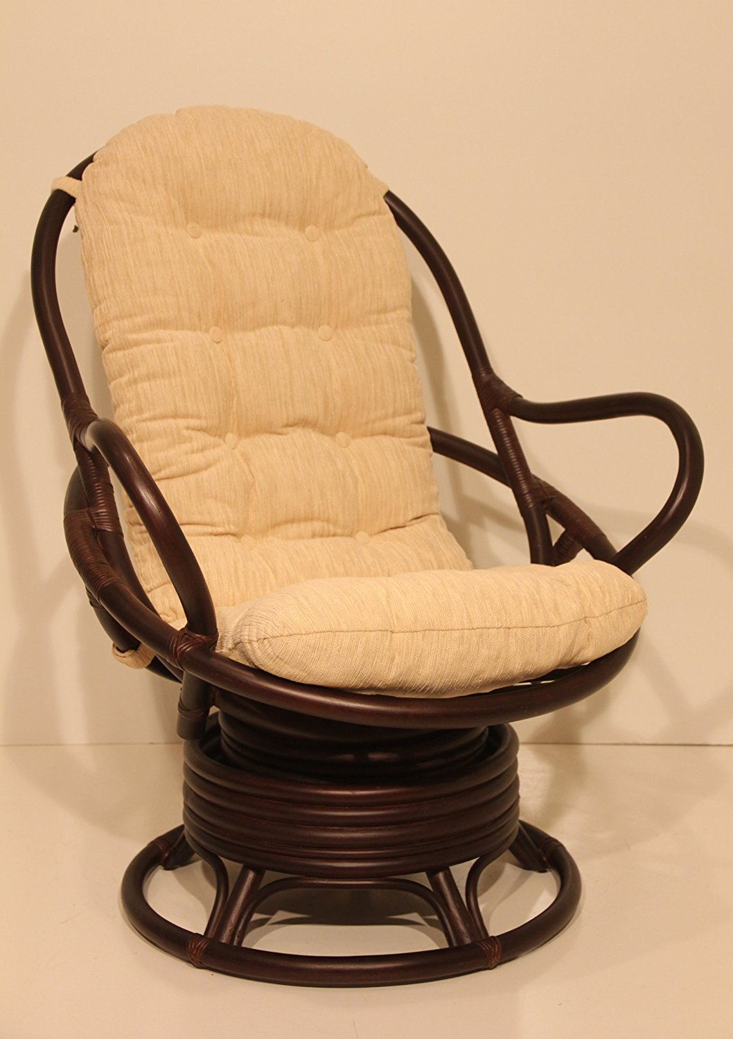Rattan Swivel Rocker | Cushion for Rattan Swivel Rocker | Outdoor Wicker Swivel Rocker