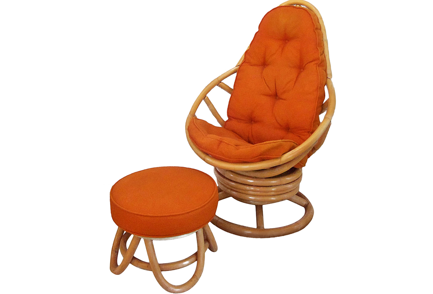 Rattan Swivel Rocker | Cushion for Rattan Swivel Rocker | Papasan Swivel Chair Cushion