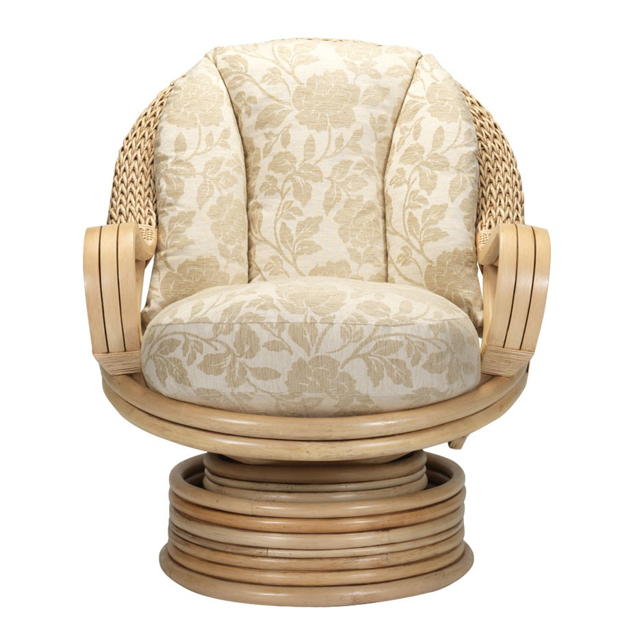 Rattan Swivel Rocker Cushion | Rocking Papasan Chair | Rattan Swivel Rocker
