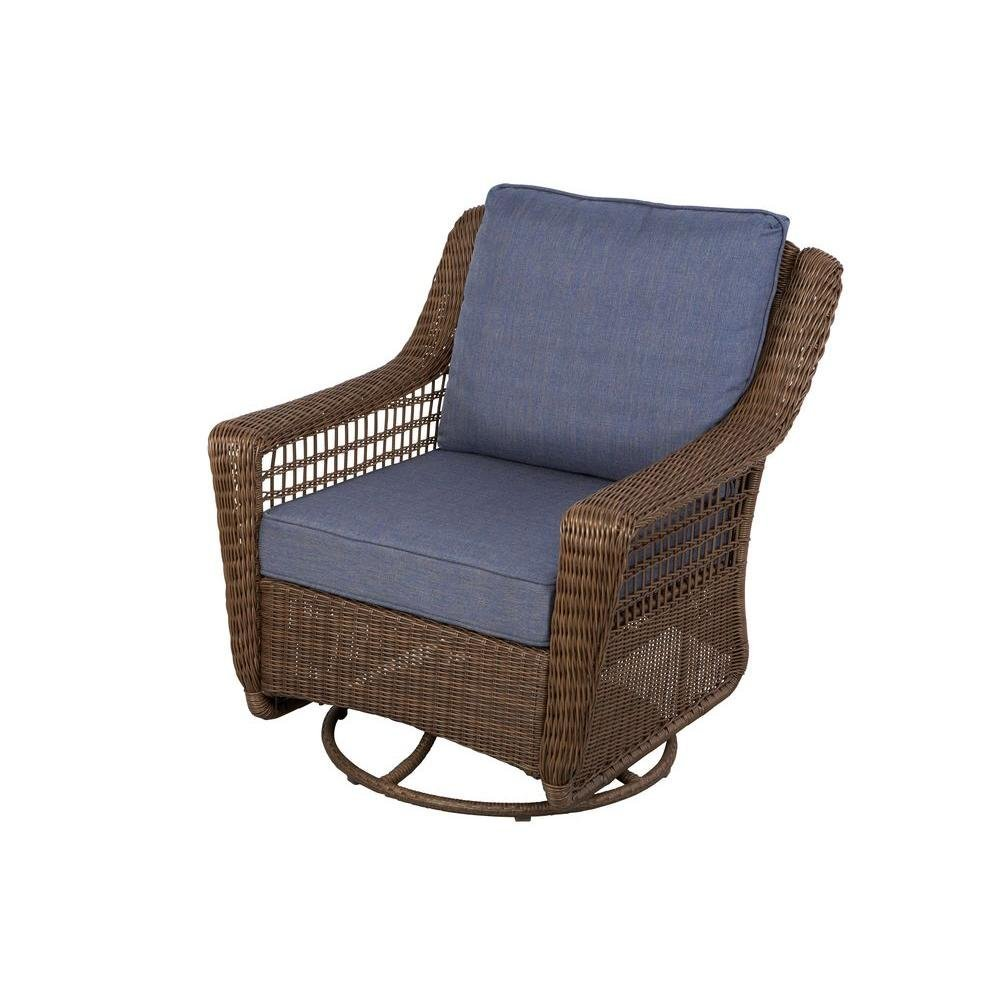 Rattan Swivel Rocker | Rocking Papasan Chair | Outdoor Swivel Glider Chairs