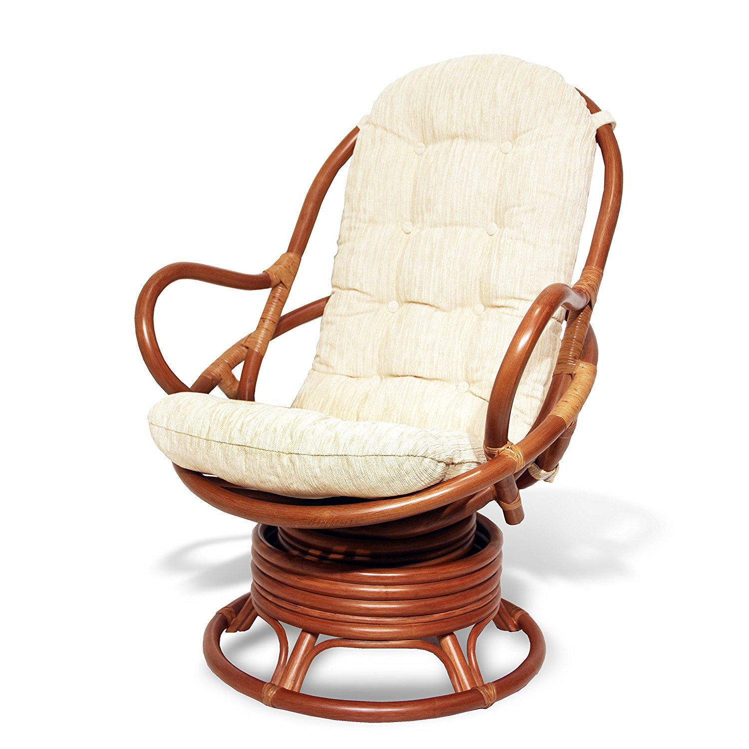 Rattan Swivel Rocker | Swivel Chair Cushion | Rattan Swivel Rocker Cushion