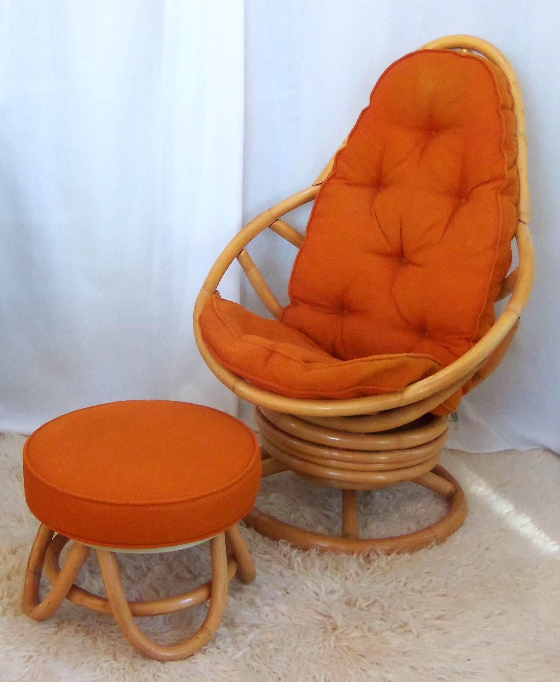 Rattan Wicker Swivel Chair