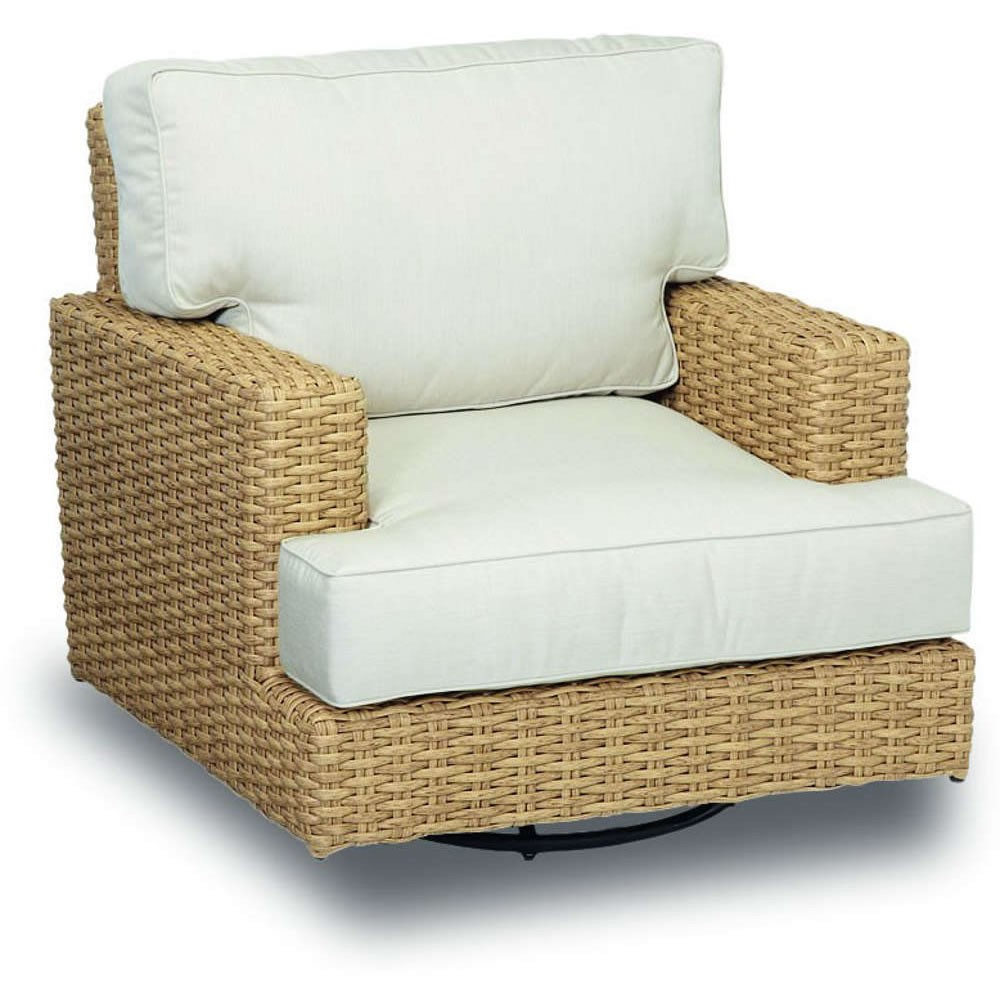 Rattan Swivel Rocker | Swivel Wicker Chairs with Cushions | Indoor Glider Chair