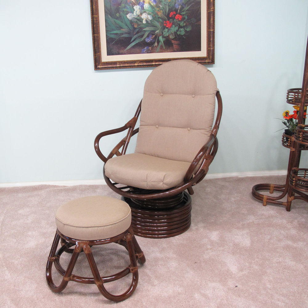 Rattan Swivel Rocker | Wicker Glider Chairs | Rattan Recliner Chairs