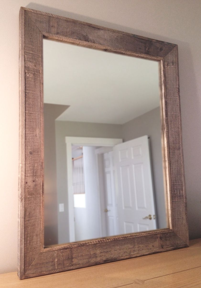 Reclaimed Wood Mirror | Allen Roth Mirror | Wood Vanity Mirror