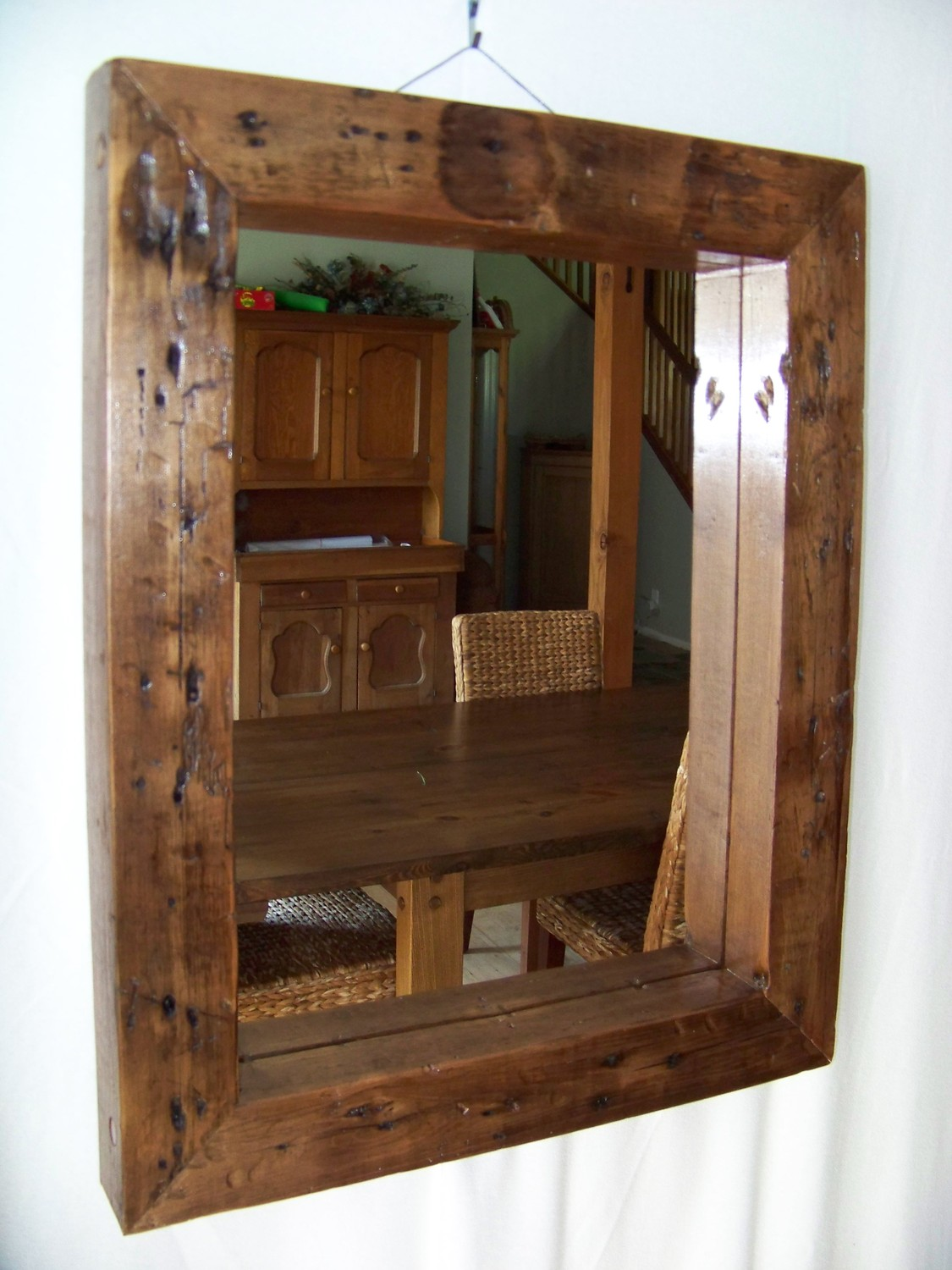 Reclaimed Wood Mirror | Costco Mirrors | Wooden Vanity Mirror