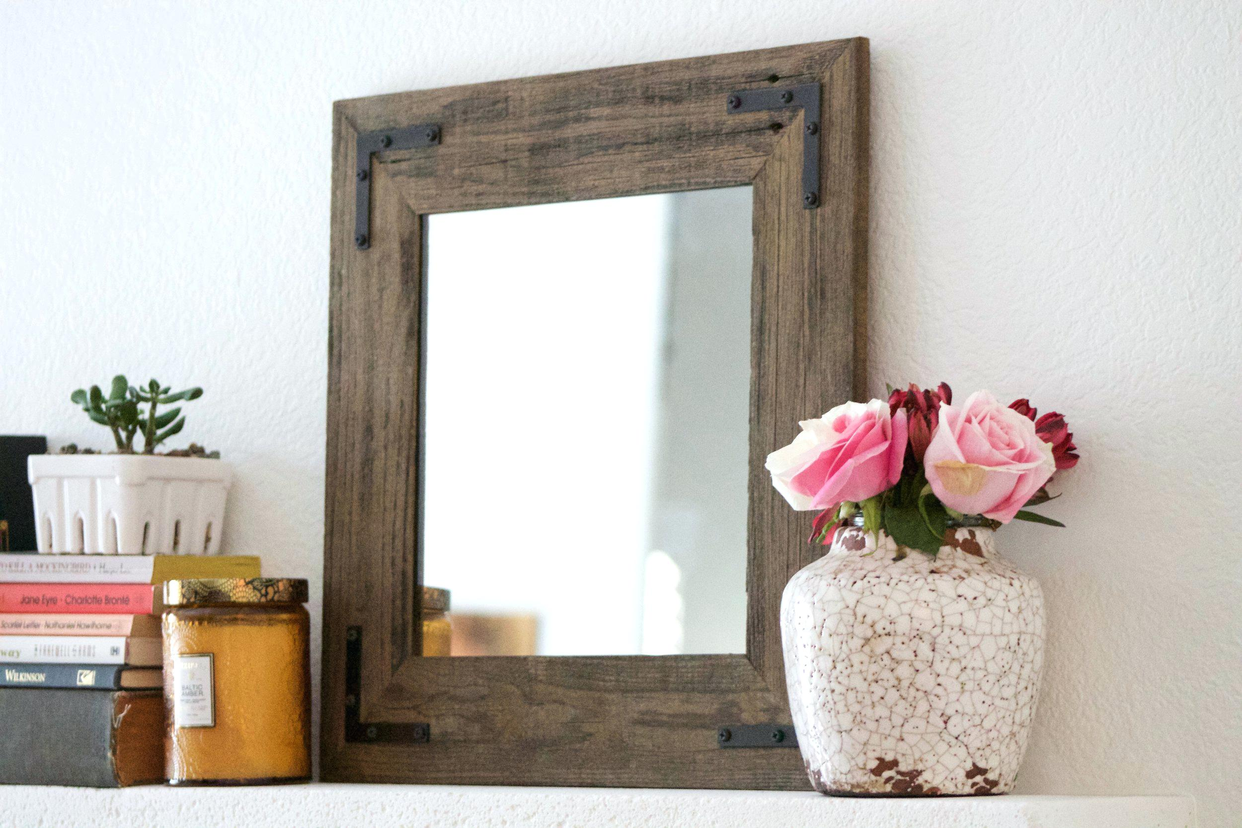 Reclaimed Wood Mirror | Large Quatrefoil Mirror | Ornate Wall Mirrors