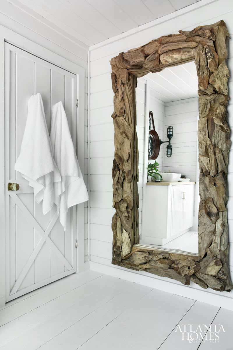 Reclaimed Wood Mirror | Oak Framed Wall Mirrors | Distressed Bathroom Mirror