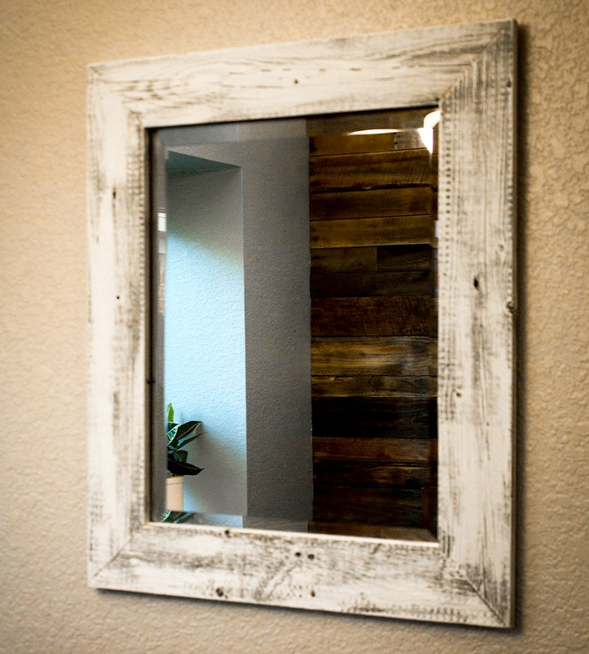 Reclaimed Wood Mirror | Oversized Wall Mirrors | Mirror Reclaimed Wood